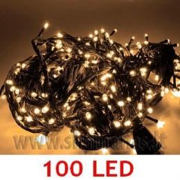 100 LED, 6.5m, mirksejimo režimai,  šiltai balta