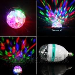 VIENGUBA LED 360 laipsniu besisukanti lempa RGB