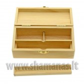 16.8x8.2x5.8cm medinė dėžutė