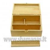 15.6x9x5.1cm medinė dėžutė