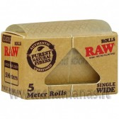 """Vyniojami popierėliai """" RAW Classic Rolls SW"""" 5m"""