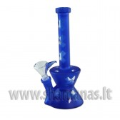 21cm Glass Bong with Crosses Matt blue