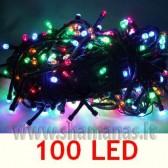100 LED , 6.5m, mirksejimo režimai,  įvairiaspalvė