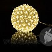 Ø 10cm, 50 LED šiltai baltai šviečiantis mažas burbulas