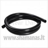 Soft švelni silikoninė žarna be antgalių, matinė juoda