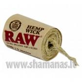 6m spec virvutė bongo uzdegimui (raw hemp wick)