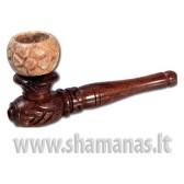 10cm medinė su akmenine galvute ( 16 33 06 )
