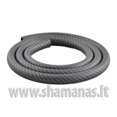 Soft švelni silikoninė žarna be antgalių, Carbon - Black