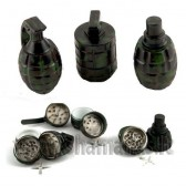 Ø 4.5cm metalinis didelis  3 daliu ( gr grenade )