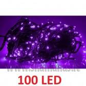 100 LED , 8m, mirksejimo režimai, violetinės spalvos
