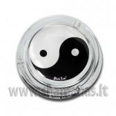 Stiklinė tradicinė peleninė  'YinYang'