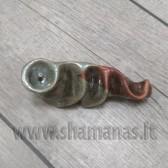 10.5cm rankų darbo keramikinė pypkutė
