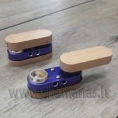 4,5cm ( sulenkta) maža medinė - metalinė pypkutė
